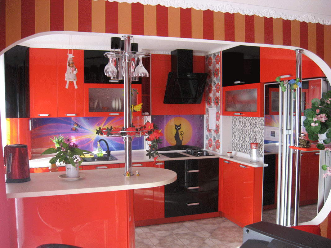 Кухня Red Modern 1